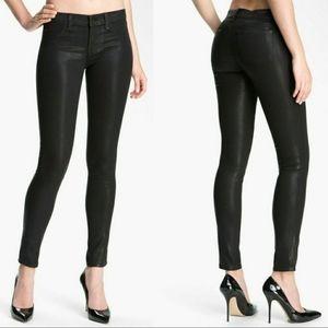 J Brand Black Super Skinny Coat Steel Jeans